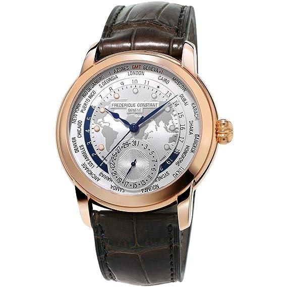 Frederique Constant Geneve Worldtimer Manufacture FC-718WM4H4 Reloj Automático para hombres Calibre de Manufactura: Amazon.es: Relojes