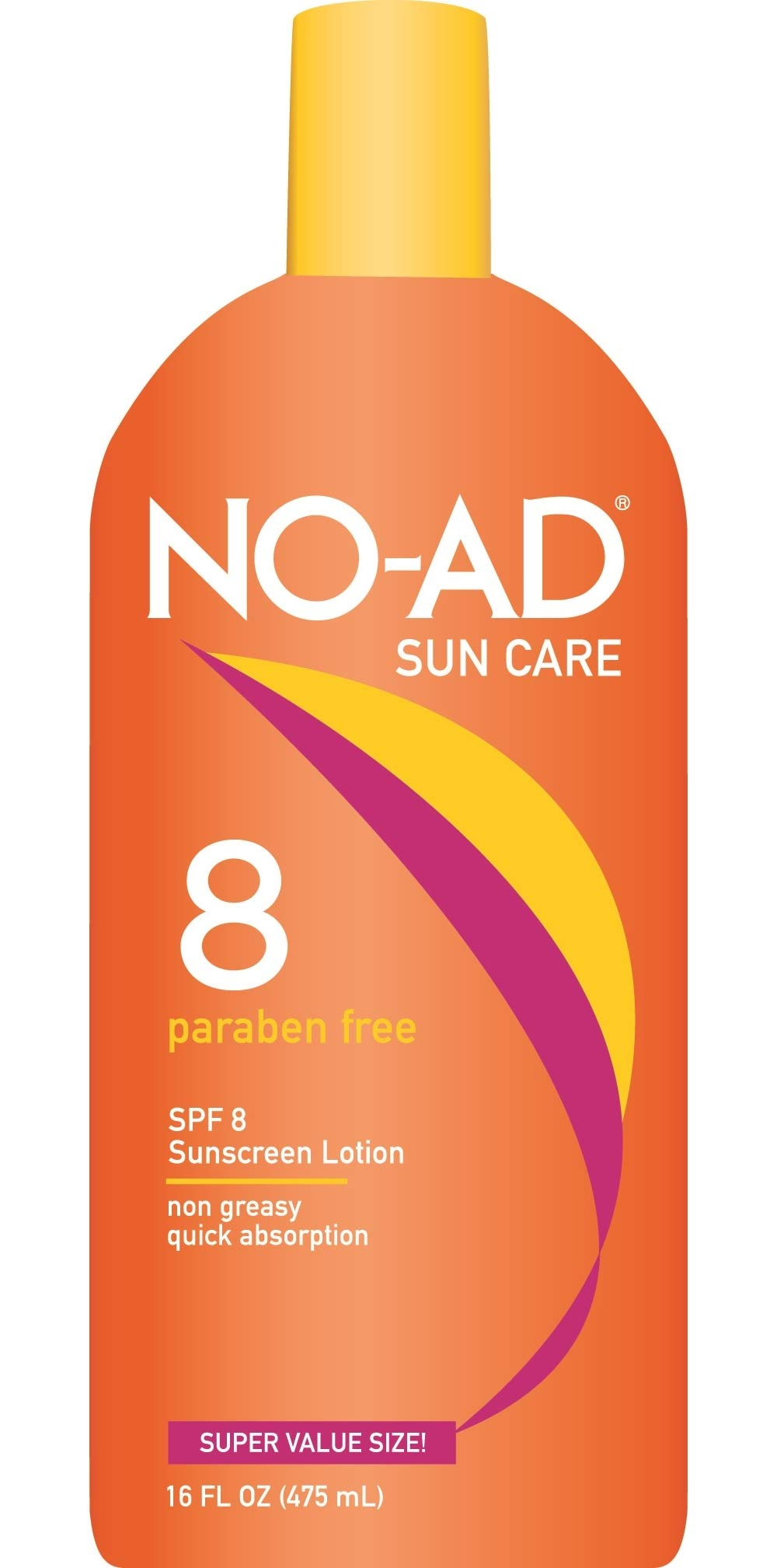 NO-AD Protective Tanning Lotion, SPF 8 16 oz (Pack of 3) by No-Ad Suntan