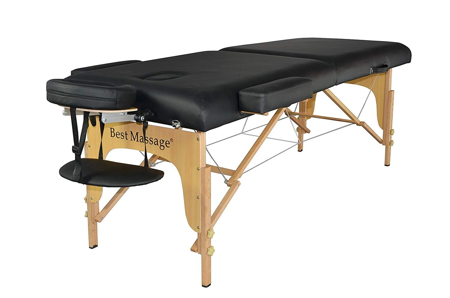 BestMassage PU Portable Massage Table w/Free Carry Case Bed Spa Facial