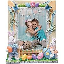 Neil Enterprises, Inc 5x7 Easter Bunny Resin Picture Frame