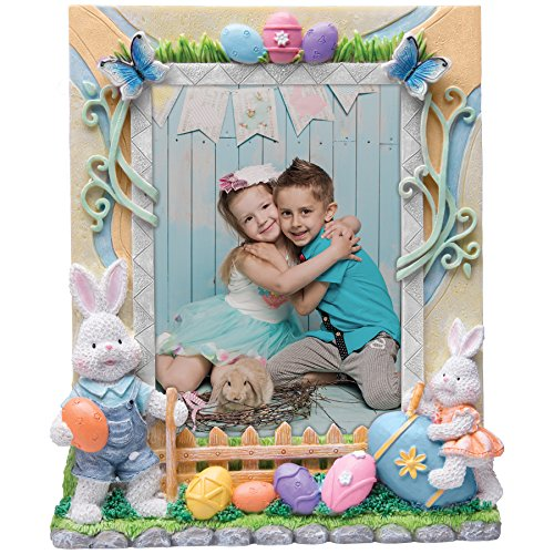 (Neil Enterprises Inc. 5x7 Easter Bunny Resin Picture Frame )