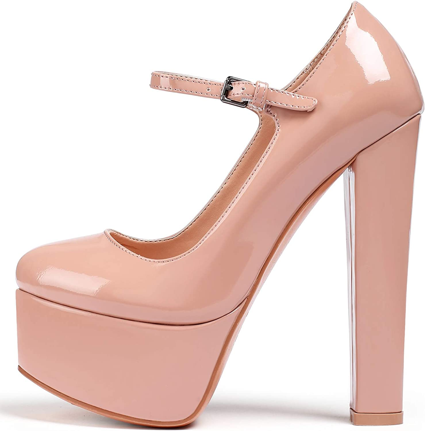 New Women Patent Leather Pointy Toe Wedge Heel Party Dress Pump Shoes Plus Size