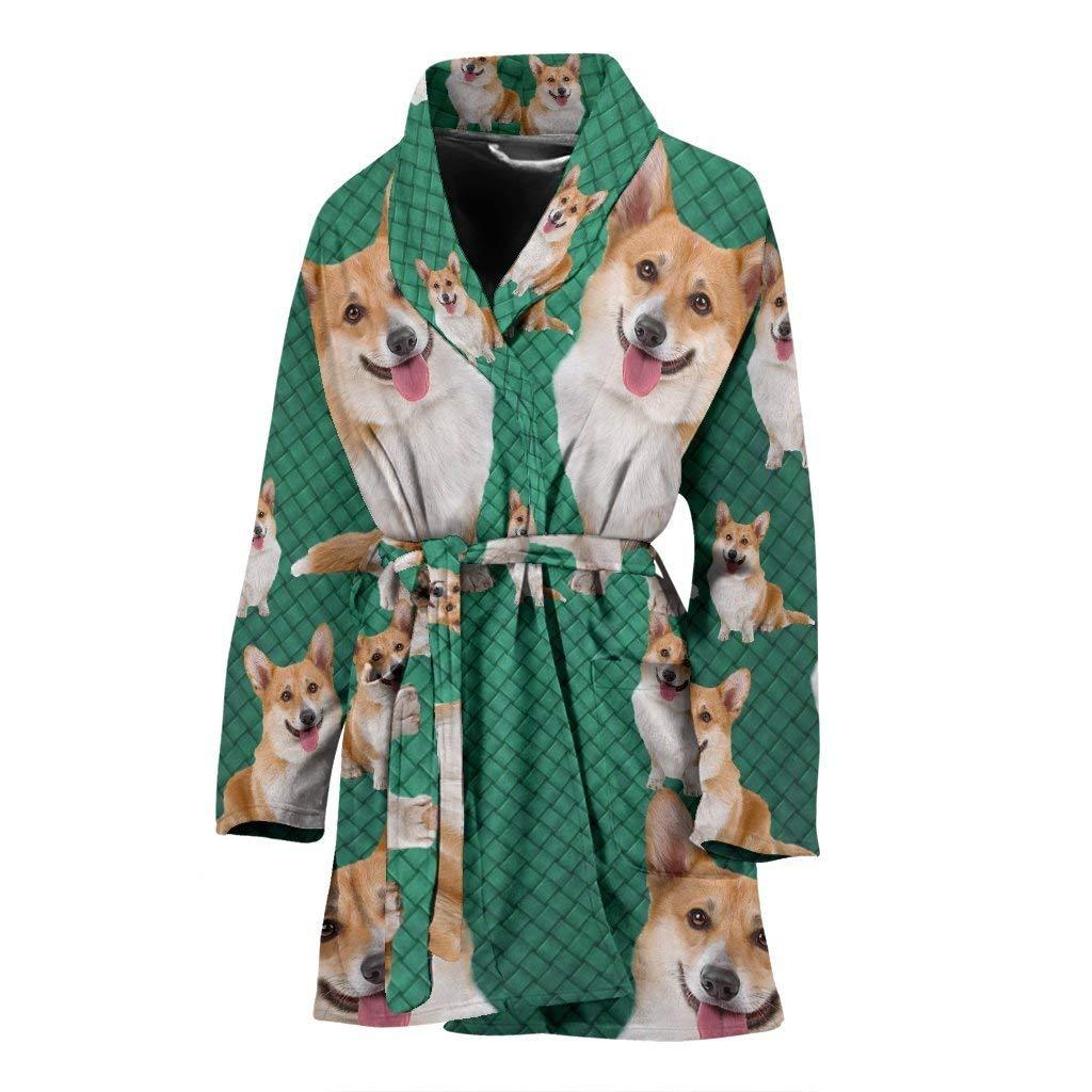 Breedink Amazing Cardigan Welsh Corgi Dog Print Women's Bath Robe