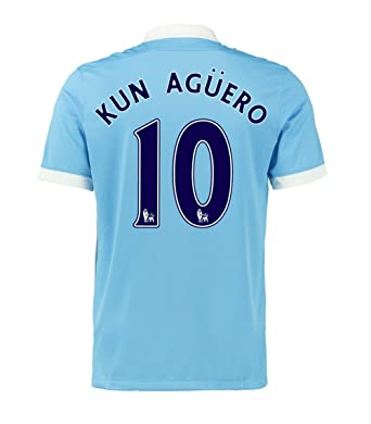 pretty nice 78818 ac0d5 Amazon.com: Nike Kun Aguero #10 Manchester City Home Soccer ...