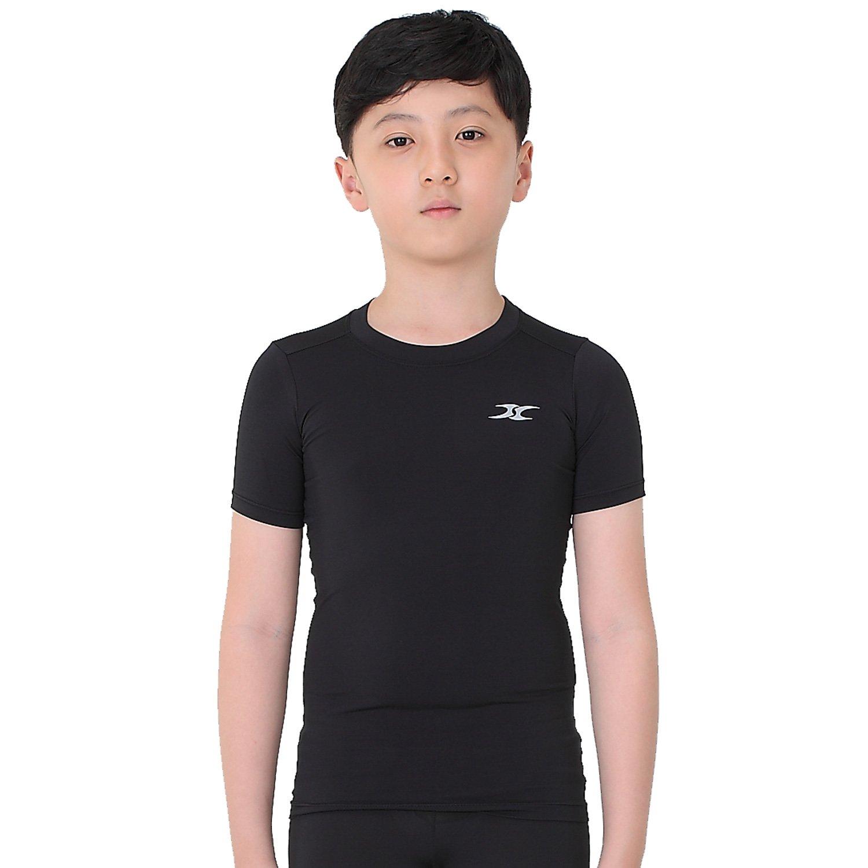 999ebf07b2fae Amazon.com: Kids Compression Shirt Underwear Boys Youth Under Base Layer  Short Sleeve Top SK: Sports & Outdoors