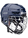 CCM Youth 3DS Ice Hockey Helmet Combo, Navy