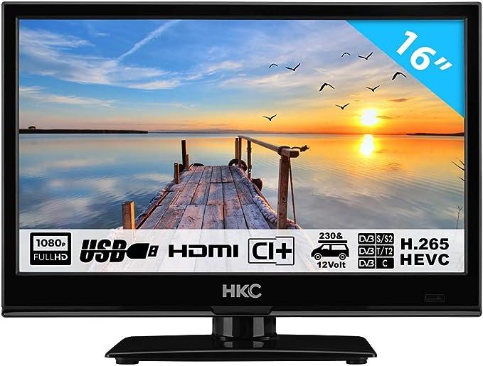 HKC 16M4H TV PEQUEÑA (16 Pulgadas) TV LED (Full HD, sintonizador ...