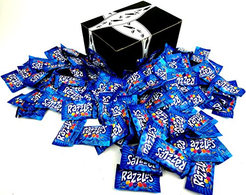Razzles Sour - Original Razzles, 2-Piece Packets in a BlackTie Box (Pack of 100)