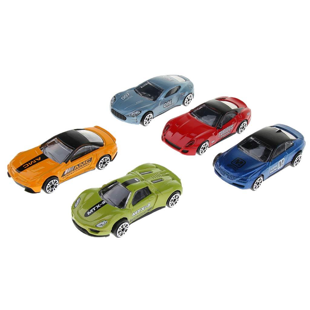 perfeclan 5PCS 1:64 Lega Auto Inerti Scorrevoli Veicoli Diecast Giocattolo per Bambini Ambulanza