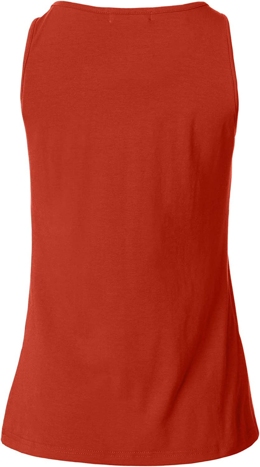 dressforfun 901024 Women Basic Tank Top, Round Neck, Cotton - different colours and sizes - (Red | XL | No. 304503) Dark Red | Xxl | No. 304509