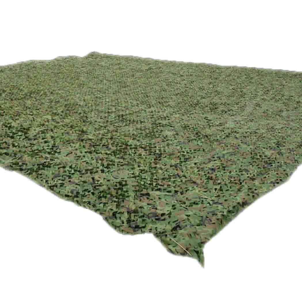 HSBAIS 軍事 迷彩柄 カモフラージュネット 偽装網、ウッドランドに最適キャンプ砂漠射撃 ハンティング 日傘 隠蔽 サバイバルゲーム,green_4x10m(13x33ft) 4x10m(13x33ft) green B07Q98YJKK