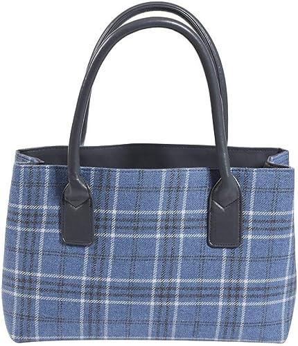 Braemar Purple Tartan Cross Body Bag by Quintessential