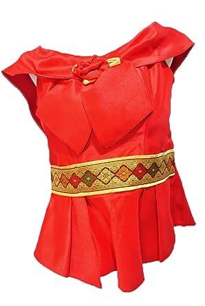 Red Lao Laos Silk Sleeveless Casual Blouse Tops Sz 34 Sz S B34g At