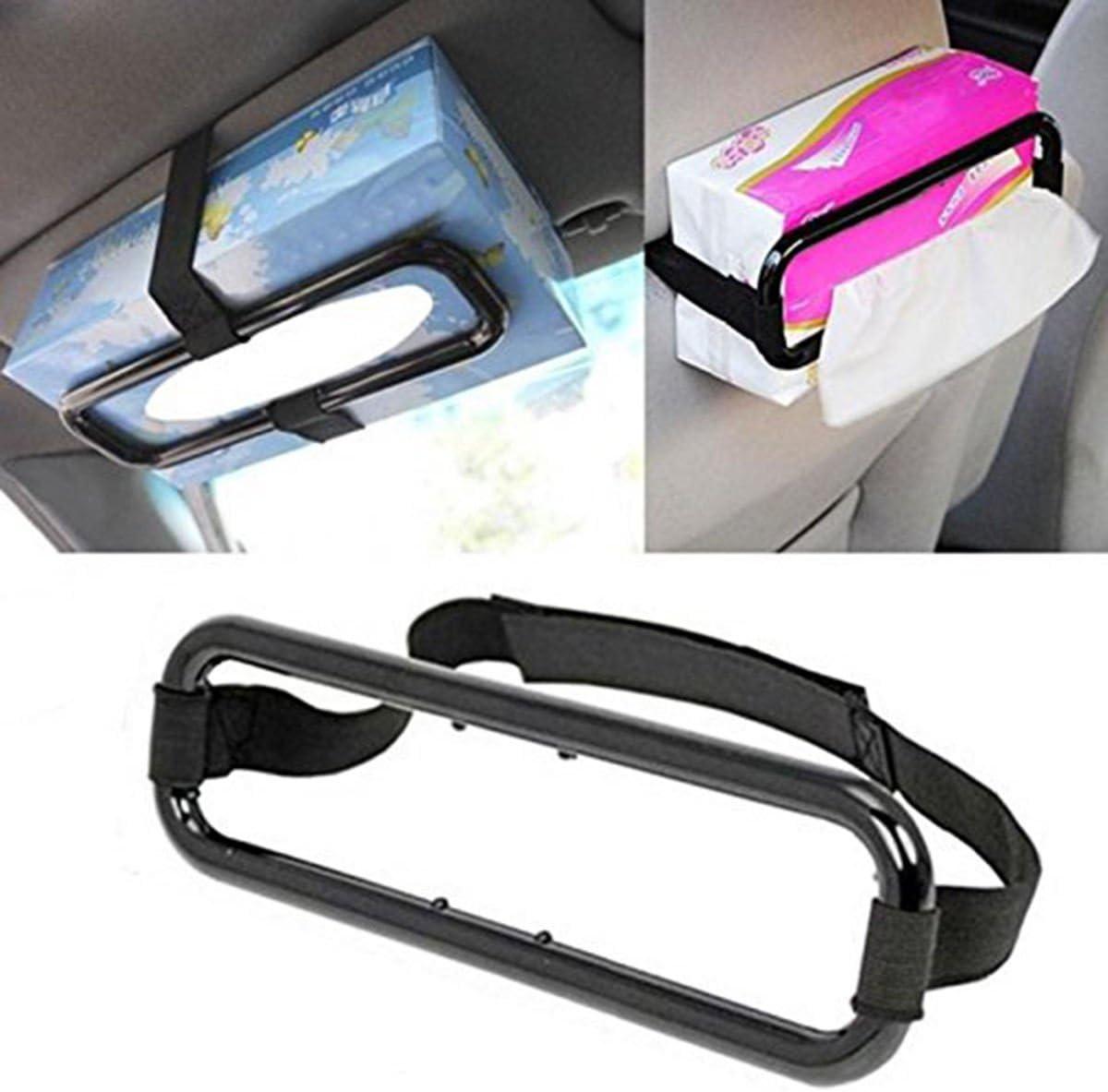 Car Auto Sun Visor Tissue Box Holder Paper Napkin Seat Back Clip Bracket Tools