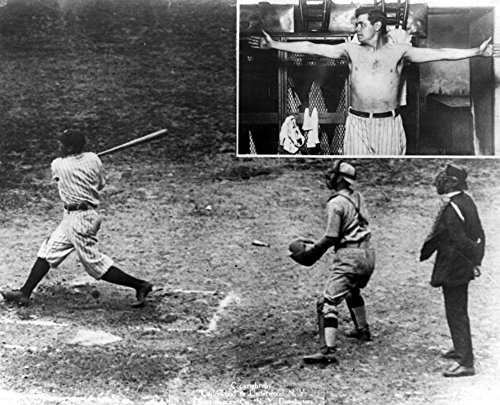 - George H Ruth (1895-1948) Nknown As Babe Ruth American Baseball Player For The New York Yankees Ruth Hitting A Home Run Against The Washington Senators C1920 Insert Shows Ruth With His Arms Extended P