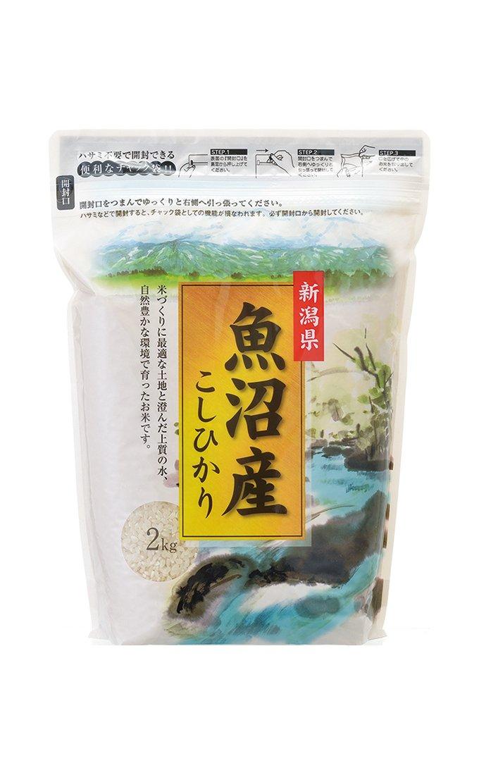 米袋 ラミ シングルチャック袋 魚沼産こしひかり 越後清流(えちごせいりゅう) 2kg 1ケース(500枚入) TI-0014 B07DRCJJMB 1ケース(500枚入) 2kg用米袋