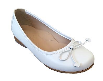 49b35da93583a Strasburg Children Communion Shoes Girls Dress Shoe Easter Leather White  Ballet Flat
