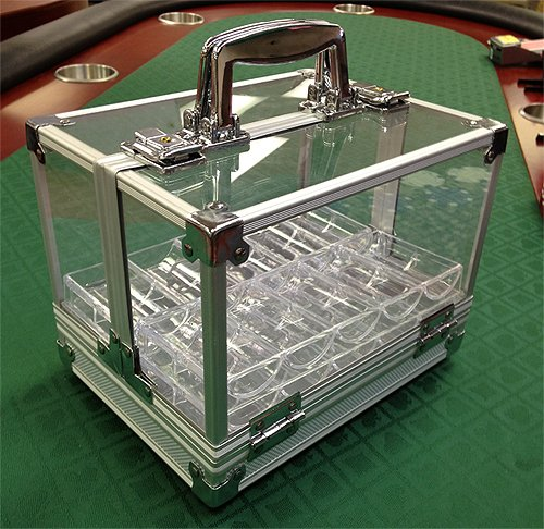 600 Poker Chips Carrier Locking Caddy WITH 6 Chip Racks