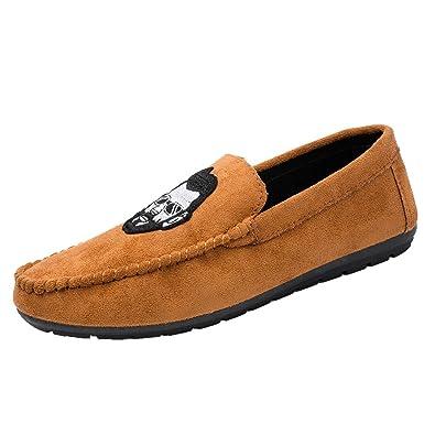 BAOLESEM Mocasines para Hombre Plano Zapatillas Casual Conducción Zapatos Calzado Verano: Amazon.es: Zapatos y complementos