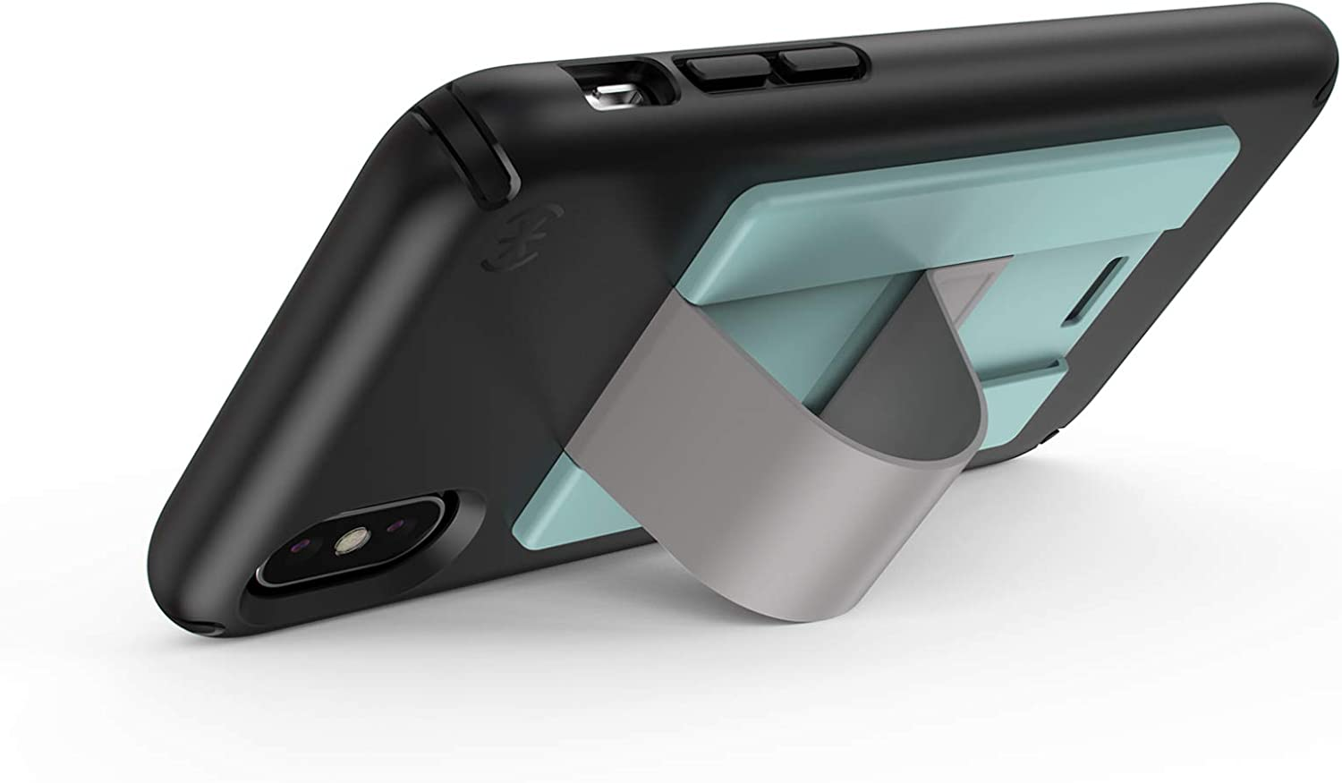 Speck Products GrabTab Cell Phone Holder and Stand Black//Black Works with Most Cell Phones