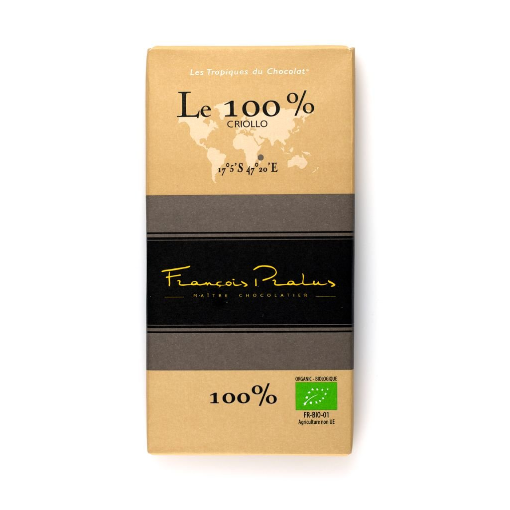Pralus BIO Le 100% 100g Chocolate Bar