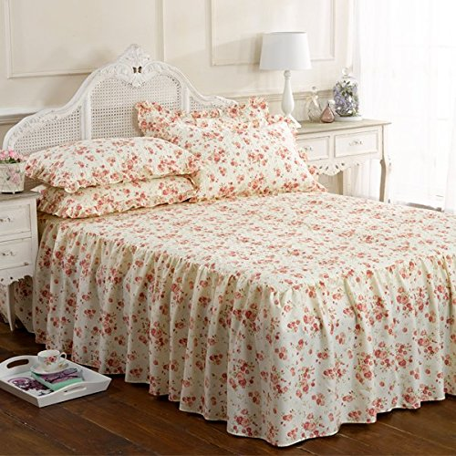 Emma Barclay Beverly Floral Frilled Bedspread Set, Pink, Single