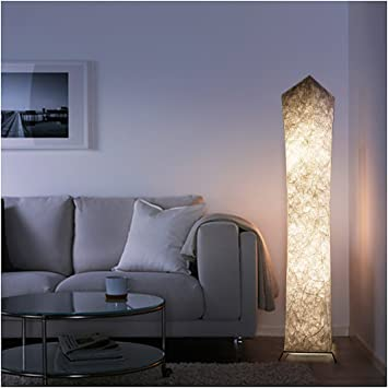 Led Floor Lamp Standing Light Reading Living Room Bedroom Furniture Linen Shade Lamp Lamps