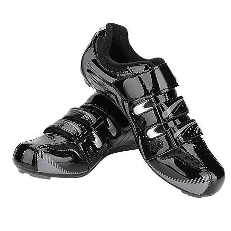 Alomejor 1 par de Bicicletas de Carretera de montaña Sistema Antideslizante Sistema SPD Zapatillas de Montar