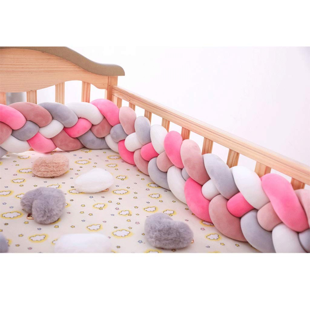 ZCXBHD Baby Cot Bumper Wrap - Braided Protection for Baby's Bed Snake Bed Roll Cushion Nursery with Head Guard Nest 100% Cotton Protector Anti Allergy (Color : F, Size : 3m) by ZCXBHD
