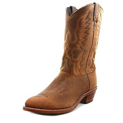Amazon.com | Abilene Men's Bison Leather Cowboy Boot | Western