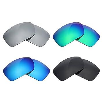 MRY 4 pares polarizadas lentes de repuesto para Costa del Mar Blackfin sunglasses-stealth negro