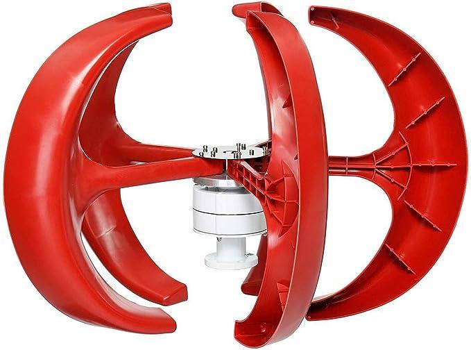 7000W del Eje Vertical del Viento Generador De Turbinas Lantern Motor Kit, 5 Palas 12V 24V Electromagnética para El Hogar Híbridos Farola Uso,12v