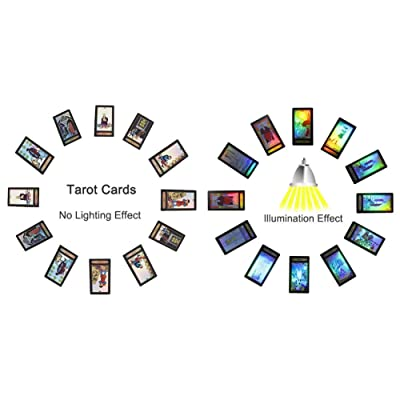 Tarot Cards for Beginner Deck Vintage 78 Cards Rider Waite Future Telling Game in Colorful Box (Black): Toys & Games