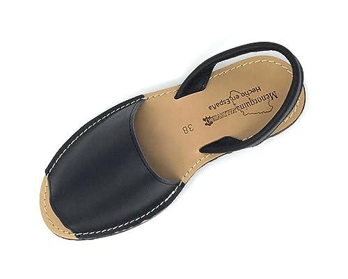 6f182e65 Menorquinas de Piel para Mujer Tipo Sandalias Muy cómodas: Amazon.es:  Zapatos y complementos