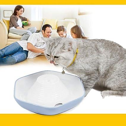 QWERTY Fuente De Beber De Circulación Automática para Mascotas 1.8L Gatos Perros Pequeños Cerámica Filtro