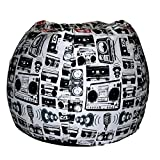 ComfyBean Bags Printed XXXL Bean Bag Without Fillers Cover (Multi-Color)