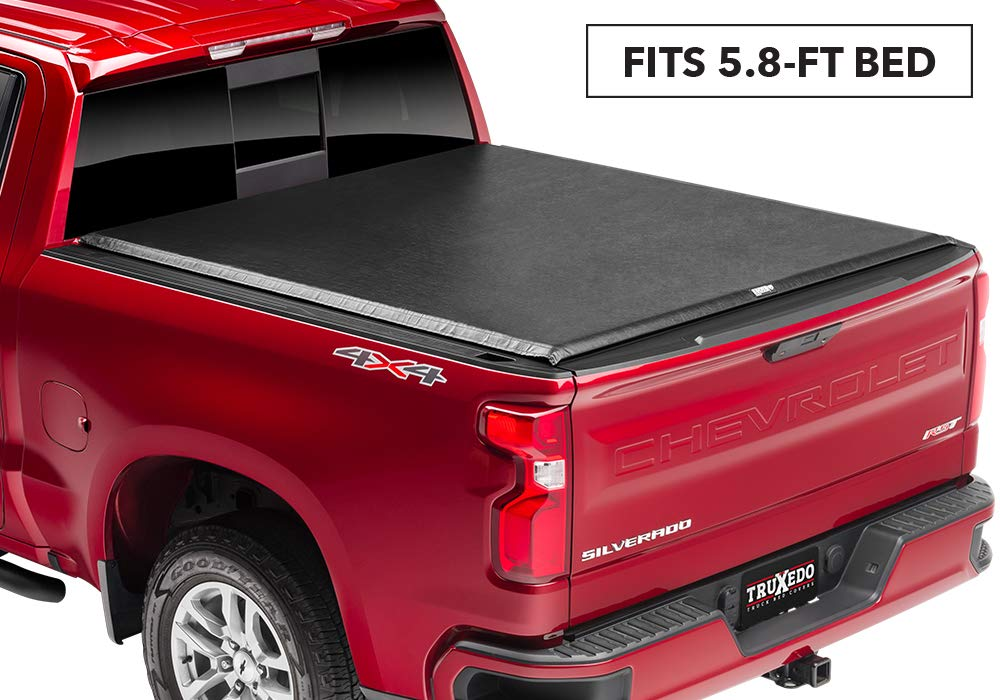 872401 fits 2019 GMC Sierra /& Chevrolet Silverado New Body Style 1500 58 Bed TruXedo Edge Soft Roll Up Truck Bed Tonneau Cover