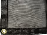 Green Vista Premium Pond Net and Netting With Grommets - 16x20 Feet Approx. - Heavy Duty Tarp Keeps Debris Out of Water Gardens, Pools, More - 60-70% Shade - 1/16 Inch Mesh - Black