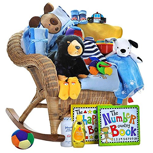 Gift Basket Baby Boy Rocker by Gift Basket