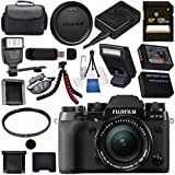 Fujifilm X-T2 Mirrorless Digital Camera with 18-55mm Lens 16519314 + NP-W126 Lithium Ion Battery + 58mm UV Filter + 128GB SDXC Card + Carrying Case + Flexible Tripod Bundle