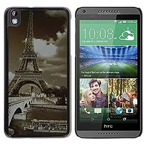 - Paris Eiffel Tower - - Monedero pared Design Premium cuero del tirš®n magnšŠtico delgado del caso de la cubierta pata de ca FOR HTC DESIRE 816 Funny House
