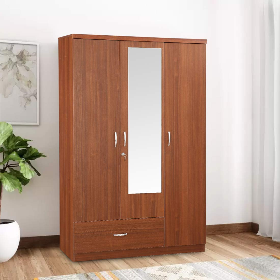 HomeTown Ultima Melamine Faced Chipboard Three Door Wardrobe