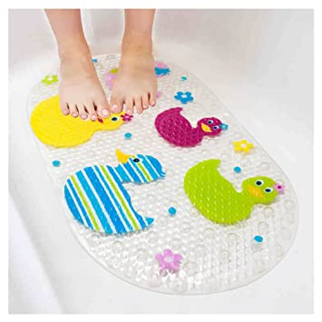 Non Slip Baby Bath Mat BliGli Cartoon Bathtub Mat For Kids With Suction Cup  Toddler