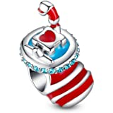 Glamulet Jewelry Women's 925 Sterling Silver Christmas Festival Charm Fits Pandora Bracelet