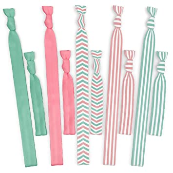 Amazon.com   Hair Bands and Hair Ties - No Tangle No Crease Ribbon -  Turquoise and Pink   Beauty 9247aeff3cb