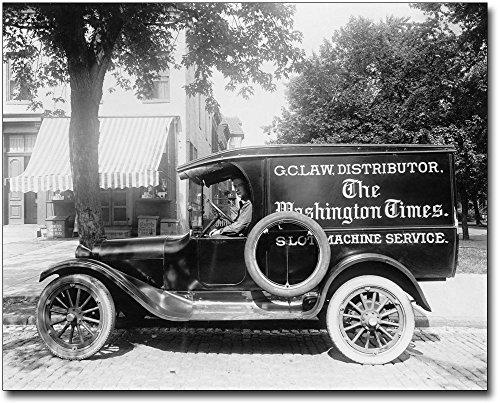 Washington Times Newspaper Truck 1920s 30x40 Silver Halide Photo Print