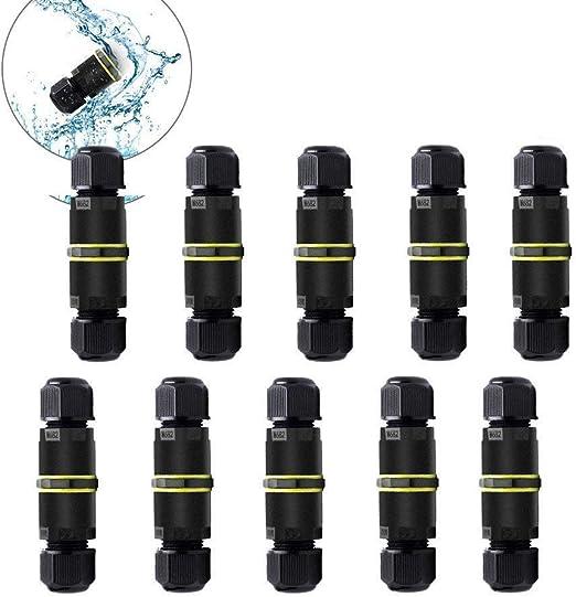 10 X Extrémités extérieures Housse 4 mm noir étanche