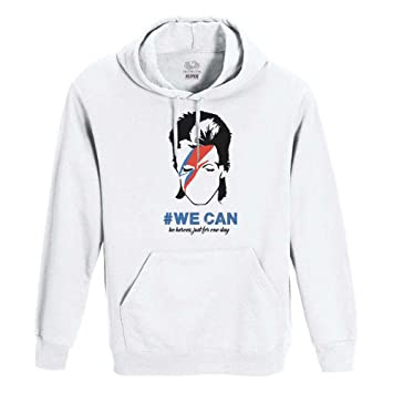 Roly Sudadera Blanca uomo-Donna Unisex Fruit of The Loom - David Bowie: Amazon.es: Deportes y aire libre