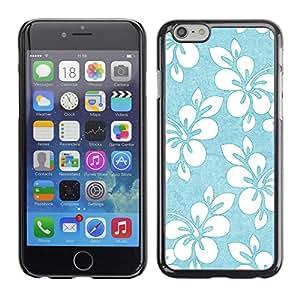 Carcasa Funda Case // V0000402 Blue White Flower Pattern Shading // iPhone 6 4.7