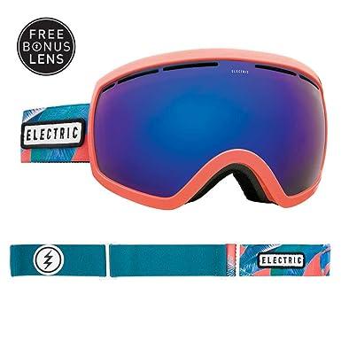 09d00c3e6d0 Electric EG2.5 Snowboard Goggles 2018 - Pink Palms w Brose Blue Chrome +  Bonus Choice Lens  Amazon.co.uk  Clothing